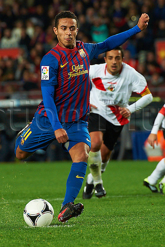 22.12.2011. Barcelona, Spain. Spanish Copa del Rey football competition, Barcelona FC versus L'Hospitalet at the Nou Camp stadium. Image shows  Thiago Alcantara (FC Barcelona)