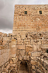 Israel, Jerusalem Archaeological Park, the western corner of the southern wall of Temple Mount<br />