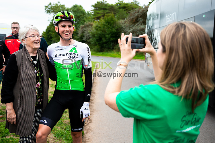 Picture by Alex Whitehead/SWpix.com - 02/09/2018 - Cycling - OVO Energy Tour of Britain - Stage 1: Pembrey Park to Newport, Wales - Scott Davies of Dimension Data.