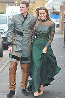 Chloe Meadows &amp; Taylor Barnett<br /> arriving for filming for the Towie Diwali party at sugar hut brentwood essex <br /> <br /> &copy;Richard Open snappers