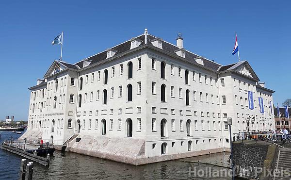 Nederland - Amsterdam-  21 april 2018. Het Scheepvaartmuseum aan het Oosterdok.    Foto Berlinda van Dam / Hollandse Hoogte