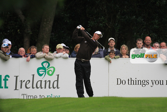Richard Green teein goff ont he 10th on day three of the 3 Irish Open, at the Killarney Golf and Fishing Club, Killarney, Ireland.Picture Fran Caffrey/www.golffile.ie.