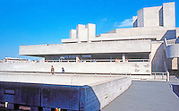 London: National Theatre--Entry from Hayward.  Sir Denys Lasdun designed 1967. 1969-76.