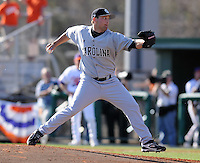 University of South Carolina pitcher Curtis Johnson (24) in a game between the Clemson Tigers and USC Gamecocks on March 2, 2008, at Doug Kingsmore Stadium in Clemson. Photo by: Tom Priddy/Four Seam Images