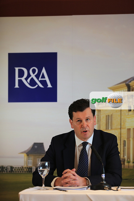 R&A announce putter anchoring ban, Pictured David Rickman R&A Executive director of Rules at the BMW PGA Championship 2013, Wentworth Club, Virginia Water, Surrey, England..Picture:  Fran Caffrey/www.golffile.ie