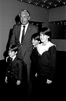 "May 21, 1985 File Photo - Jean Beliveau, former CANADIENS Hockey player pose with 3 siblings of Canadian Prime Minister Brian Mulroney and wife Mila  : Mark  (smaller boy), Benedict (aka Ben) and Caroline (girl)  attend an event at Montreal's Expo-Theatre.<br /> <br /> As of 2013 : <br /> Robert ""Mark"" Mulroney (born . 1979) - Is a  Managing Director, Head of Equity Capital Markets, National Bank of Canada<br /> Benedict Mulroney (born . 1976) is a TV host<br /> Caroline Mulroney (born. 1974) - is a Lawyer, consultant and academic administrator<br /> Not in photo is Nicolas Mulroney (born . 1985) - Associate, CIBC Capital Markets"