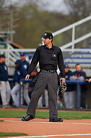 Home plate umpire Clay Williams during a Midwest League game between the Lake County Captains and Beloit Snappers at Pohlman Field on May 6, 2019 in Beloit, Wisconsin. Lake County defeated Beloit 9-1. (Zachary Lucy/Four Seam Images)