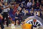 League ACB-ENDESA 2017/2018 - Game: 12.<br /> FC Barcelona Lassa vs Herbalife Gran Canaria: 77-88.<br /> Kevin Seraphin vs Marcus Eriksson.