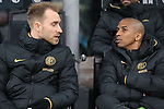 Christian Eriksen and Ashley Young of Inter on the bench during the Coppa Italia match at Giuseppe Meazza, Milan. Picture date: 12th February 2020. Picture credit should read: Jonathan Moscrop/Sportimage