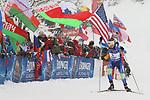 09/12/2017, Hochfilzen - IBU World Cup Biathlon 2018.<br /> Biathlon Pursuit Women 10 km race in Hochfilzen, Austria on December 9, 2017; Darya Domracheva