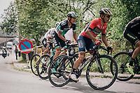 Domenico Pozzovivo (ITA/Bahrain-Merida) up the Saint-Nicolas<br /> <br /> 104th Liège - Bastogne - Liège 2018 (1.UWT)<br /> 1 Day Race: Liège - Ans (258km)