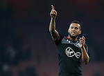Southampton's Ryan Bertrand celebrates at the final whistle during the EFL Cup match at the Emirates Stadium, London. Picture date October 30th, 2016 Pic David Klein/Sportimage
