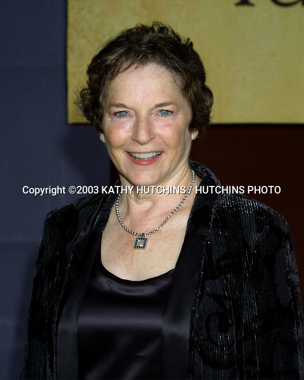 "©2003 KATHY HUTCHINS / HUTCHINS PHOTO.WORLD PREMIERE OF ""UNDER THE TUSCAN SUN"".EL CAPITAN THEATER.HOLLYWOOD, CA  .SEPTEMBER 20, 2003..FRANCES MAYES"