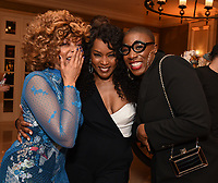 2020 FOX WINTER TCA: L-R: EMPIRE cast member Taraji P. Henson and 9-1-1 cast members Angela Bassett and Aisha Hinds celebrate at the FOX WINTER TCA ALL-STAR PARTY during the 2020 FOX WINTER TCA at the Langham Hotel, Tuesday, Jan. 7 in Pasadena, CA. © 2020 Fox Media LLC. CR: Frank Micelotta/FOX/PictureGroup