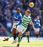 12.05.2019 Rangers v Celtic: Jermain Defoe and Jozo Simunovic