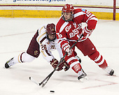 Scott Savage (BC - 28), Nick Roberto (BU - 15) - The Boston College Eagles defeated the visiting Boston University Terriers 6-4 (EN) on Friday, January 17, 2014, at Kelley Rink in Conte Forum in Chestnut Hill, Massachusetts.