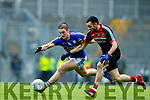 Stephen O'Brien Kerry in action against Kevin McLoughlin Mayo in the All Ireland Semi Final in Croke Park on Sunday.