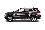 Car Driver side profile view of a 2016 JEEP Grand-Cherokee Overland 5 Door Suv Side View