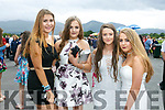 Enjoying the Killarney Races on Thursday were Carta  Hernandez, Sinead Kissane, Clodagh Evans, Gianna O'Donoghue