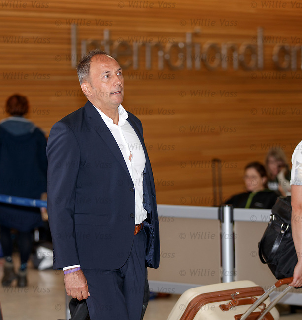 08.08.18 FK Maribor arrive at Glasgow airport: Maribor manager Darko Milanic