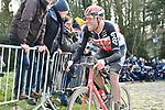 Frederik Frison (BEL) Lotto-Soudal climbs the Muur van Geraardsbergen during Omloop Het Nieuwsblad 2020, Belgium. 29th February 2020.<br /> Picture: Serge Waldbillig/cyclingpix.lu | Cyclefile<br /> <br /> All photos usage must carry mandatory copyright credit (© Cyclefile | cyclingpix.lu/Serge Waldbillig)