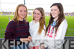 Kate O'Shea, Claire Crowley, Kate Crowley at the Senior County Hurling final, Lixnaw V Kilmoyley at Austin Stack Park on Sunday