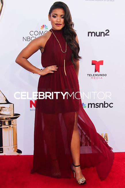 PASADENA, CA, USA - OCTOBER 10: Vivian Lamolli arrives at the 2014 NCLR ALMA Awards held at the Pasadena Civic Auditorium on October 10, 2014 in Pasadena, California, United States. (Photo by Celebrity Monitor)
