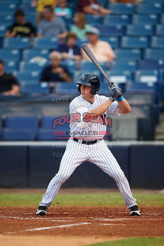 Tampa Yankees right fielder Jeff Hendrix (24) at bat during a game against the Daytona Tortugas on August 5, 2016 at George M. Steinbrenner Field in Tampa, Florida.  Tampa defeated Daytona 7-1.  (Mike Janes/Four Seam Images)