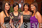 Christine Collins, Annamarie Collins, Kathleen Brosnan and Siobhan Brosnan enjoying the Gneeveguilla Social in the Killarney Avenue on Saturday night.....