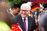 Frank-Walter Steinmeier beim Empfang des Staatspräsidenten der Volksrepublik China Jinping im Schloss Bellevue. Berlin, 05.07.2017
