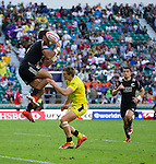 Beaudein Waaka. The All Blacks Sevens beat Australia 24-10. London, England. Photo: Marc Weakley