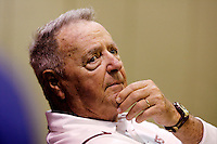 TALLAHASSEE, FL 10/31/09-FSU-NCST FB09 CH56-Florida State Head Coach Bobby Bowden talks about the 45-42 win over N.C. State after the game Saturday at Doak Campbell Stadium in Tallahassee. ..COLIN HACKLEY PHOTO
