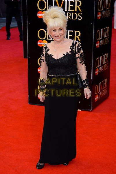 LONDON, ENGLAND - APRIL 13: Barbara Windsor attends the Olivier Awards 2014 at the Royal Opera House on April 13, 2014 in London, England. <br /> CAP/CJ<br /> &copy;Chris Joseph/Capital Pictures