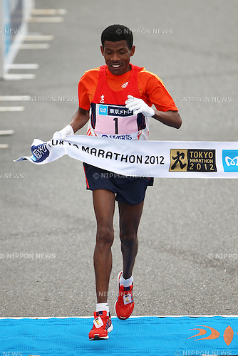 Haile Gebrselassie (ETH), .February 26, 2012 - Marathon : .Tokyo Marathon 2012 .at Tokyo Big Sight, Tokyo, Japan. .(Photo by AJPS/AFLO SPORT) [1045]