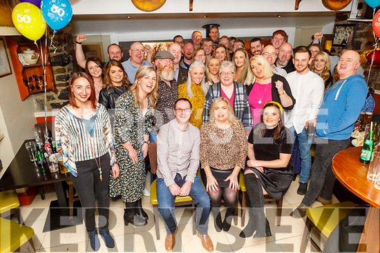 Marie O'Mahoney from Tralee celebrating her 50th birthday with a surprise party in the Brogue Inn on Saturday night.<br /> Marie and O'Mahoney, Niall McGowan and Rachel O'Mahoney.