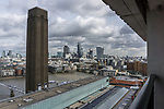 A view across London in England
