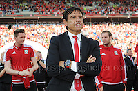 Wales manager Chris Coleman during the homecoming celebrations at the Cardiff City stadium on Friday 8th July 2016 for the Euro 2016 Wales International football squad.<br /> <br /> <br /> Jeff Thomas Photography -  www.jaypics.photoshelter.com - <br /> e-mail swansea1001@hotmail.co.uk -<br /> Mob: 07837 386244 -
