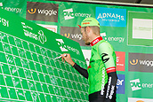 6th September 2017, Mansfield, England; OVO Energy Tour of Britain Cycling; Stage 4, Mansfield to Newark-On-Trent;  The Cannondale-Drapac, team-leader Dylan van Baarle signs-in at Registration before the race starts