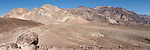 Death Valley National Park, California; panoramic views of the multi-colored rock formations seen while on the Artist Drive
