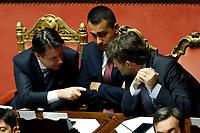 Giuseppe Conte, Luigi Di Maio e Dario Franceschini<br /> Rome September 10th 2019. Senate. Discussion and Trust vote at the new Government. <br /> Foto  Samantha Zucchi Insidefoto