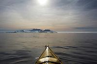 Kayaking At Half Moon Island in the South Shetland Islands near Antarctica.