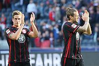 Bastian Oczipka und Marco Russ (Eintracht) - Eintracht Frankfurt vs. Hertha BSC Berlin, Commerzbank Arena