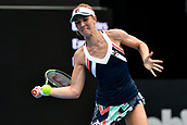 9th January 2018, Sydney Olympic Park Tennis Centre, Sydney, Australia; Sydney International Tennis, round 1; Olivia Rogowska (AUS) hits a forehand in her match against Daria Gavrilova (AUS)
