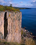 Palisade Head State Park, MN  <br /> Morning sun on the cliff face of Palisade head &amp; Lake Superior in early fall