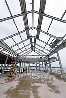 Boathouse at Canal Dock Phase II   State Project #92-570/92-674 Construction Progress Photo Documentation No. 11 on 23 May 2017. Image No. 29 Second Level Roof Steel