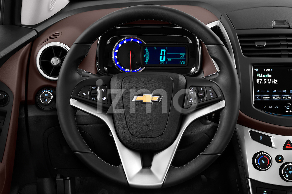 Steering wheel view of a 2013 Chevrolet TRAX LT+ 5 Door Suv 2WD