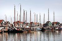 Nederland - Volendam - 2018.  De haven van Volendam. Deelnemers aan de Pieperrace. De Pieperrace is een jaarlijkse zeilwedstrijd voor historische zeilschepen.   Foto Berlinda van Dam / Hollandse Hoogte
