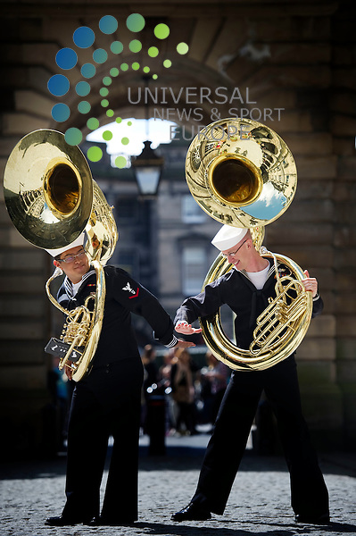 Fifty musicians from the US Naval Forces Band are welcomed in Edinburgh, at the City Chambers ahead of the Military Tattoo, Edinburgh, Scotland, 30th July, 2012..Picture:Scott Taylor Universal News And Sport (Europe) .All pictures must be credited to www.universalnewsandsport.com. (Office)0844 884 51 22.