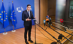 Belgium, Brussels - June 24, 2018 -- Informal working meeting on migration and asylum issues convened by the President of the European Commission; here, Pedro SÁNCHEZ PÉREZ-CASTEJON, Prime Minister of Spain, addressing the media -- Photo © HorstWagner.eu