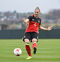 20171123 - TUBIZE , BELGIUM : Belgian Maud Coutereels pictured during a friendly game between the women teams of the Belgian Red Flames and Russia at complex Euro 2000 in Tubize , Thursday  23 October 2017 ,  PHOTO Dirk Vuylsteke | Sportpix.Be